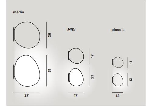 Настенный светильник Foscarini GREGG 168005/52/53-Parete, фото 2