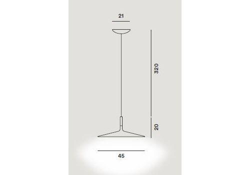 Подвесной светильник Foscarini APLOMB LARGE - marrone, фото 3
