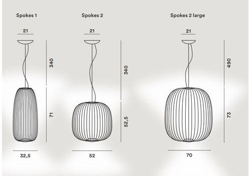 Подвесной светильник Foscarini SPOKES 2 LARGE MyLight, фото 9