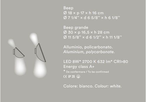 Настенный светильник Foscarini Beep, фото 4