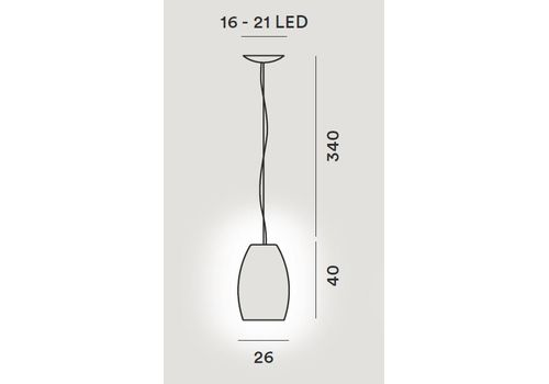 Подвесной светильник Foscarini BUDS 278071-bianco, фото 2
