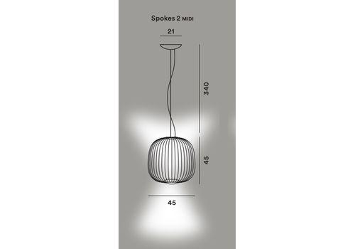 Подвесной светильник Foscarini SPOKES 2 MIDI, фото 10