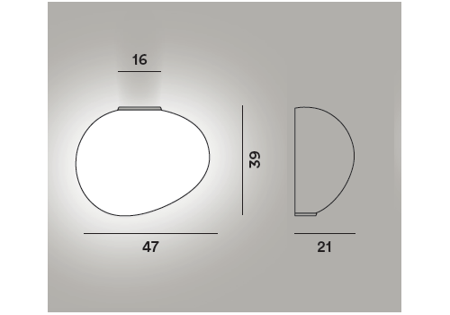 Настенный светильник Foscarini GREGG grande semi 2 My Light, фото 2