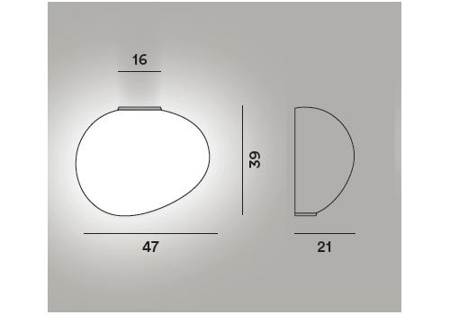 Настенный светильник Foscarini GREGG grande semi 1, фото 3