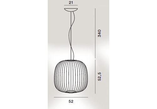 Подвесной светильник Foscarini Spokes 2 nero, фото 2