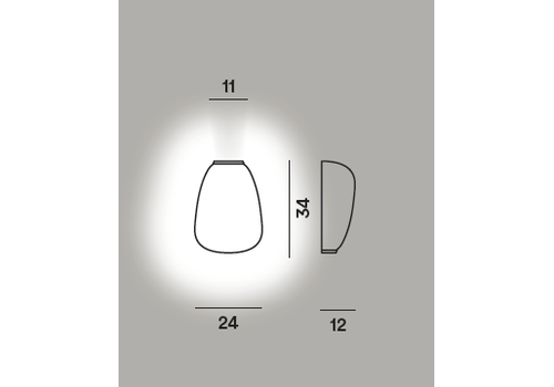 Настенный светильник RITUALS 1 semi, фото 2