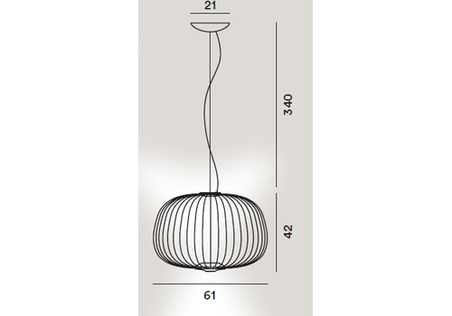 Подвесной светильник Foscarini Spokes 3 nero, фото 2
