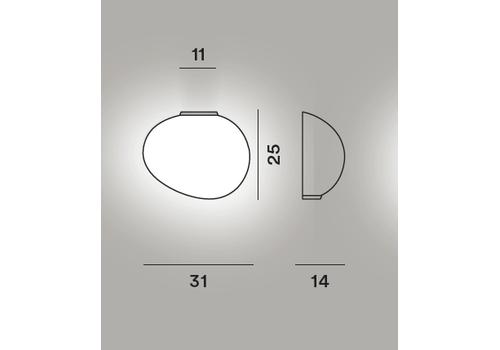 Настенный светильник Foscarini GREGG media semi 1, фото 2