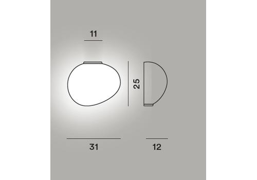 Настенный светильник Foscarini GREGG media semi 1, фото 3
