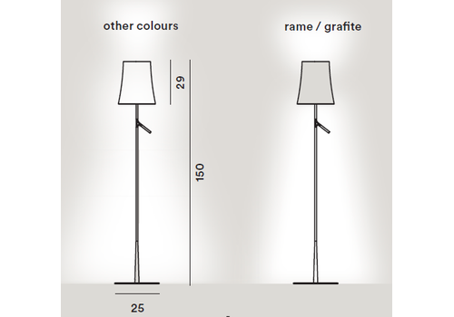 Напольный светильник Foscarini BIRDIE-bianco, фото 2
