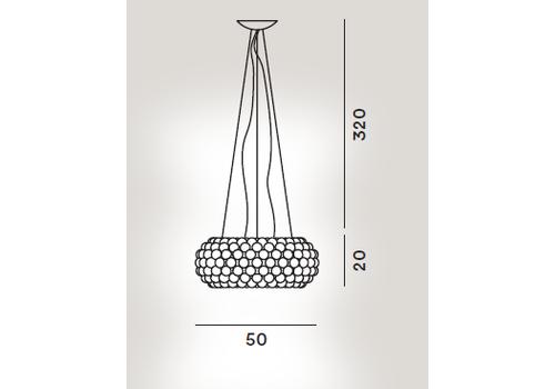 Подвесной светильник Foscarini Caboche media MyLight, Высота подвеса: H=3,2 м, фото 2